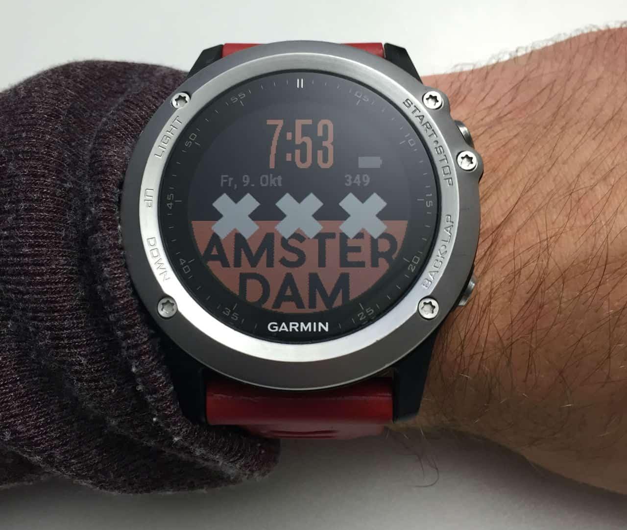 Unser erstes Fenix3 Watchface: Amsterdam