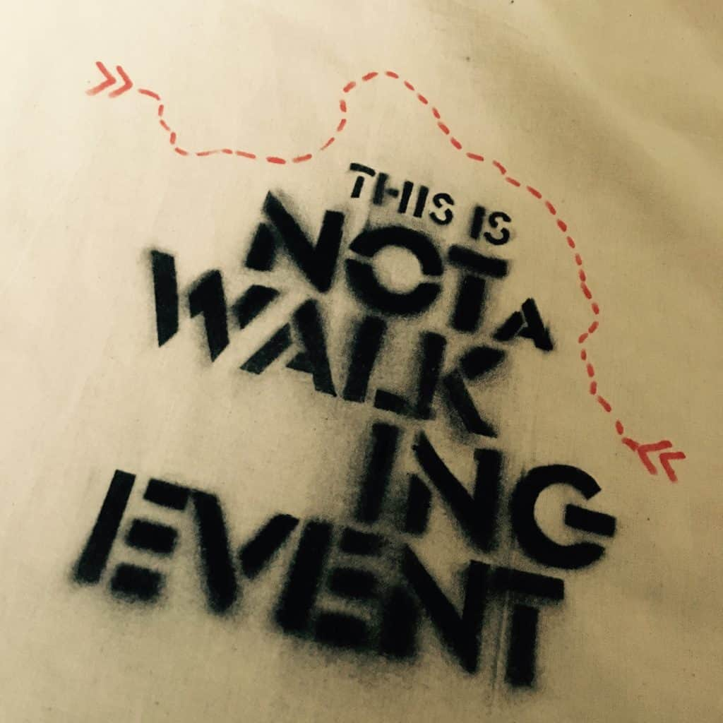 This is not a walking event