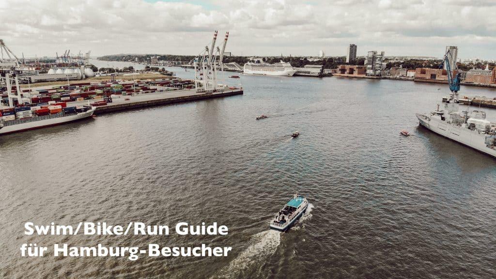 Blick auf die Elbe mit Hamburg Altona im Hintergrund
