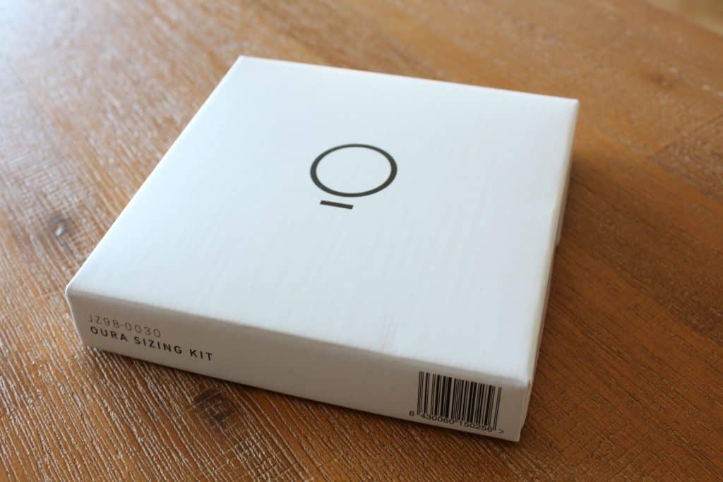 Verpackung vom Oura Ring Größenkit