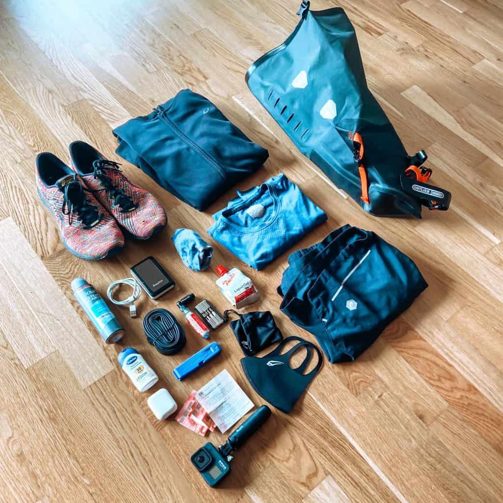 Ortlieb Seat-Pack Inhalt für eine Rennradtour