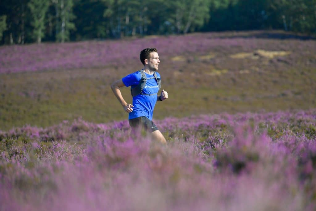 Läufer durch die Haburger Berge